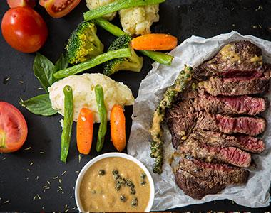 Entrecote Gemuese Italienisches Restaurant Lupo Vino E Cucina Hamburg