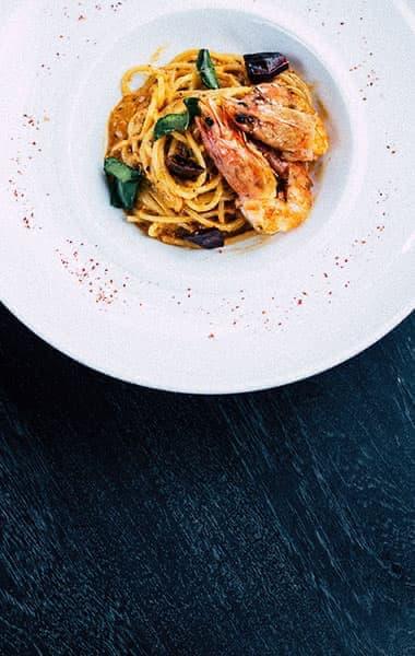 Italien Pasta Scampi Gerichte